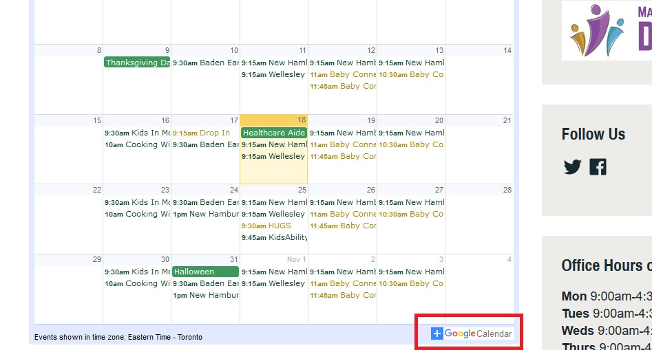 How to subscribe to our events using Google Calendar